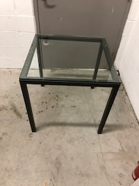 West Elm Box Frame square glass dining table (30'' x 30''x 30'')  Toronto, M6J