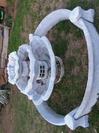 white outdoor water fountain