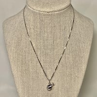 14k White Gold Snail Pendant with 14k Box Chain Ashburn, 20147