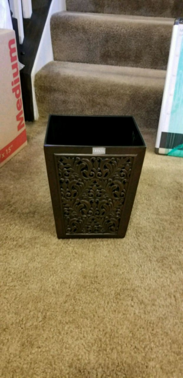 black and brown wooden chest