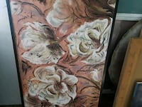 brown and white floral painting 2330 mi