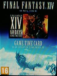 Final Fantasy 14 60 gün game time card