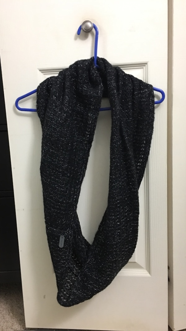 Marc new york black and silver infinity scarf