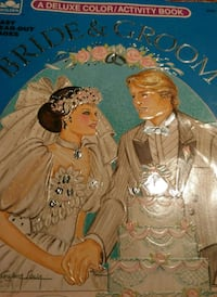 Vintage 1988 Golden Bride and Groom Coloring. Book Puyallup, 98372