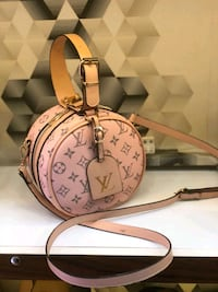 Borsa a tracolla rosa Louis Vuitton Monogram Canvas