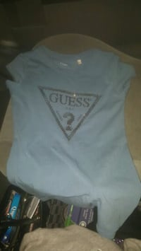 Ladies blue guess tshirt