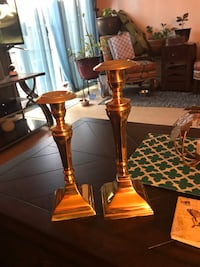 Two Vintage Stiffel Brass Candlesticks Candle Holders or Candelabral. Located near San Mateo and I40 Albuquerque, 87111