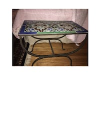 wrought iron side tables, pair, good condition East Northport