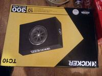 black and gray Kicker subwoofer box Gainesville, 30507