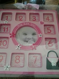 """11"""" x 11"""" baby's my first year 12 month frame"""