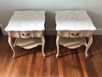 Two Marble top French Provincial Hammary Nightstands Wareham, 02571