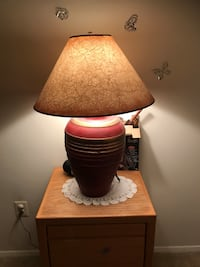brown lampshade with burgundi ceramic base Alexandria, 22304