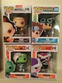 Lot of 4 Animation Funko Pops. Frieza, Zuko, Zamasu & Tai. Cambridge, N1P 1A8