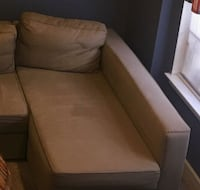 brown fabric sofa chair with ottoman Bowie, 20721