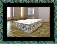 Queen plush 2pc mattress and box spring 61 km