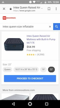 Intex queen-size self-inflating Temple, 76501