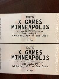X Games pair of 2 tickets XIP w/ Ice Cube  White Bear Lake, 55110