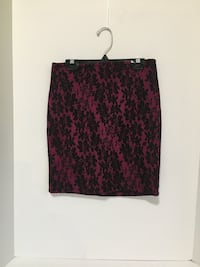 Forever 21 Pink Black Lace Skirt