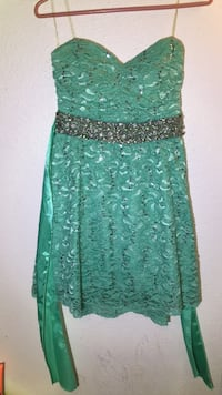 Teal  Dress Worn Once: Size   7 Pearland, 77584