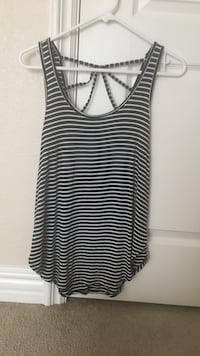 Blue and white striped tank top - size woman's small - looks brand new
