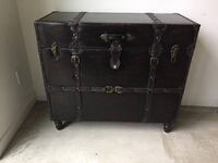 Leather trunk- $100
