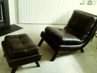 Espresso Lounge Chair & Ottoman Set Manassas