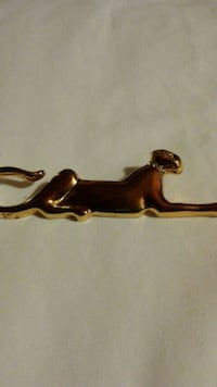 Vintage Goldtoned Panther With Rhinestone  Girard, 44420