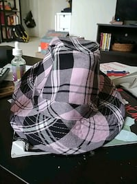 Pink black plaid fedora Falls Church, 22046