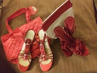 Lady in Red Shoes Washington