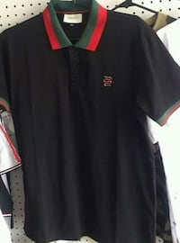 black and red polo shirt Queens, 11412