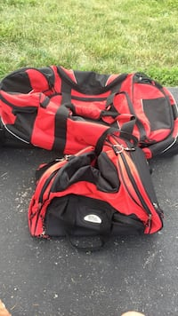two red-and-black duffel bags Lockport, 60441