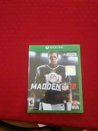Madden NFL 18 Xbox One game case Knoxville, 37917