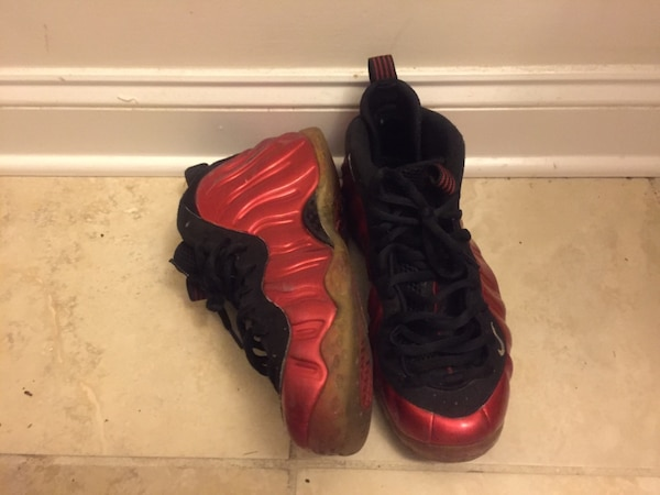 promo code fb883 19815 Used Pair of red and black nike air foamposite one for sale in Charlotte -  letgo