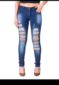 Blue skinny ripped jeans Thane, 400606