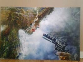 Mounted wall poster