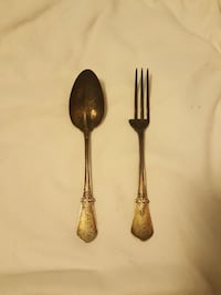 1878 sterling spoon and fork West Brookfield, 01585