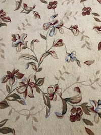 white and brown floral area rug Rockville, 20850