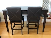 Rectangular black wooden table with four chairs dining set Tampa, 33602