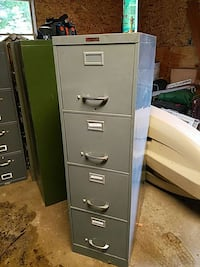 gray 4-drawer filing cabinet