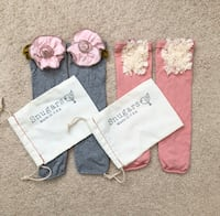 2 pairs of baby girl leg warmers Mississauga, L5M 0H2