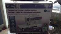 white and black Brother electric sewing machine box