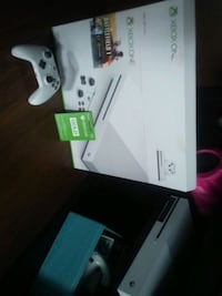 white Xbox One console with controller and game ca London, N6H 4S9