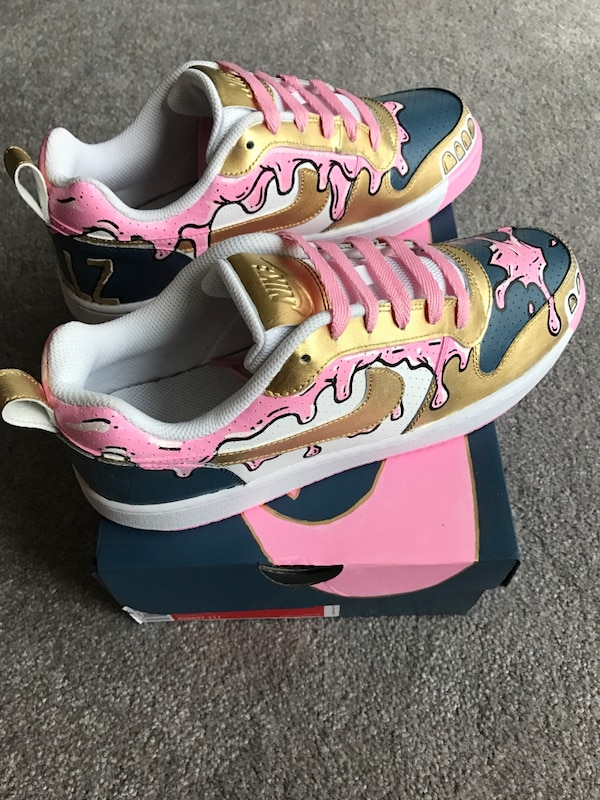 8bee36c949aa Used Custom painted shoes - bubblegum grillz edition for sale in ...