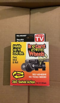 Unopened. New. Instant Swivel Wheels. As Seen On TV. Discounted.  Arlington, 22204