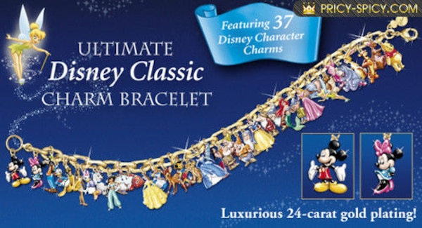 d9d033de4 Used The Ultimate Disney Classic 37-Character Charm Bracelet for ...