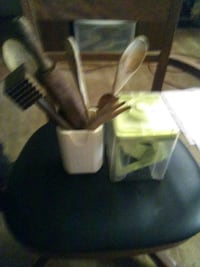 Miscellaneous wooden utensils and chopper