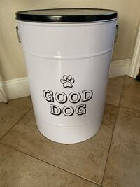 Dog food metal container