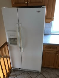 White side-by-side refrigerator with dispenser Toronto, M9N 1A7
