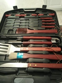 brown wooden handled grilling tool set Burlington, L7M