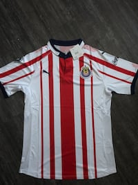 white and red Adidas jersey shirt Inglewood, 90302